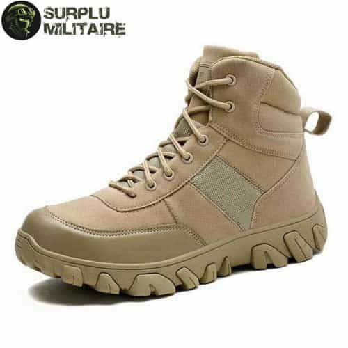 chaussures militaires boots creme 47