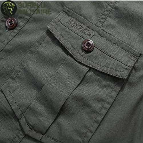 chemise militaire homme jeep vert armee 4xl cat