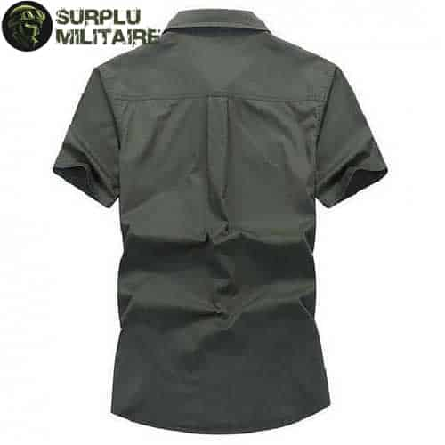 chemise militaire homme jeep vert armee 4xl