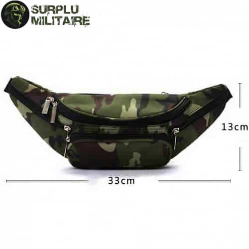 sacoche militaire banane forest camo cat 1