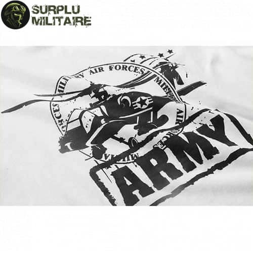 t shirt militaire homme helicoptere blanc 3xl cat