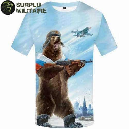 t shirt militaire homme ours russe 3xl 1